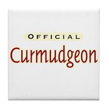 Official Curmudgeon - Tile Coaster