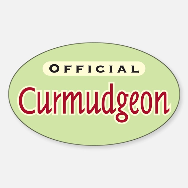 Official Curmudgeon - Oval Decal