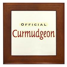 Official Curmudgeon -  Framed Tile