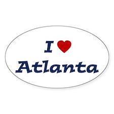 I HEART ATLANTA Oval Decal