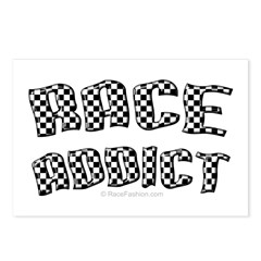Race Addict Postcards (Package of 8)
