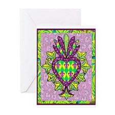 Mardi Gras Milagro Greeting Card