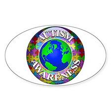 Autism Worldwide Oval Stickers