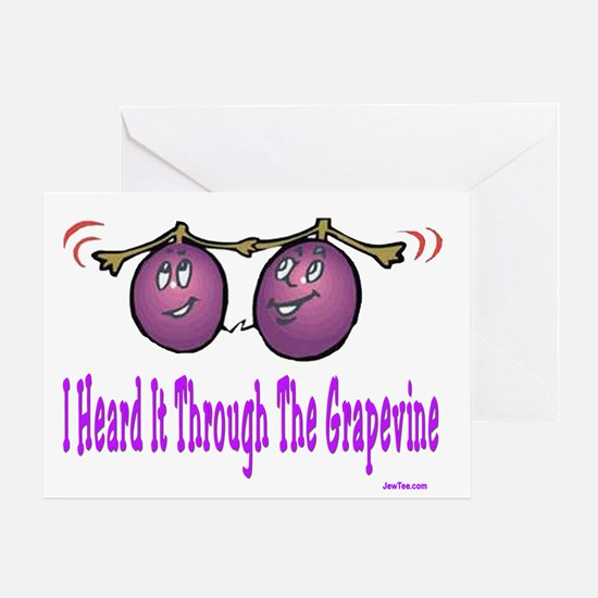 Heard It Through The Grapevin Greeting Card