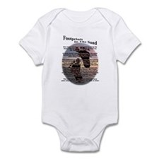 Footprints In The Sand Infant Bodysuit