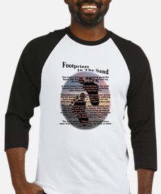 Footprints In The Sand Baseball Jersey