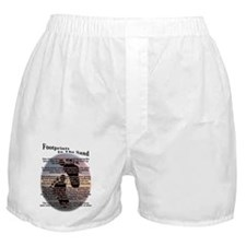 Footprints In The Sand Boxer Shorts