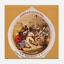 Black Americana Wheat Whiskey Art Tile Coaster