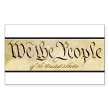 We The People Rectangle Decal