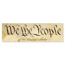 We The People Bumper Car Sticker