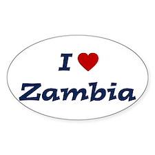 I HEART ZAMBIA Oval Decal