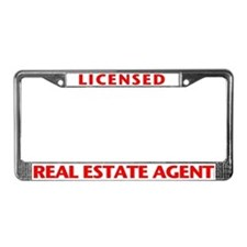 LICENSED (Red) License Plate Frame
