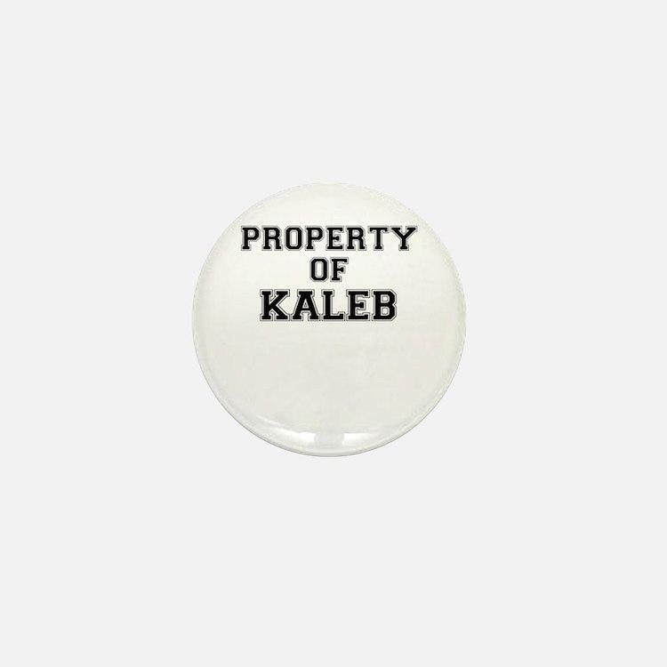 Property of KALEB Mini Button