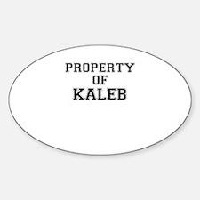 Property of KALEB Decal