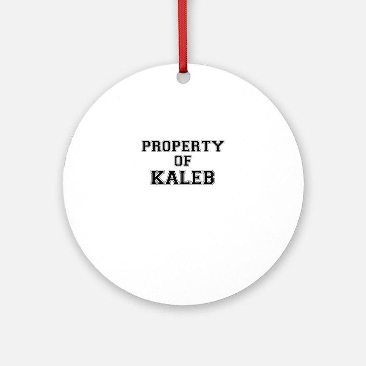 Property of KALEB Round Ornament