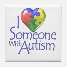Someone with Autism Tile Coaster
