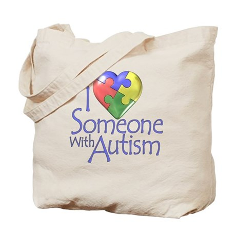 Someone with Autism Tote Bag