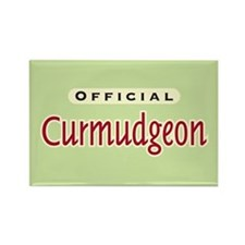 Official Curmudgeon - Rectangle Magnet