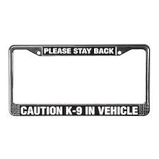 K-9 in Vehicle License Plate Frame