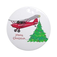 Cute Airplane Ornament (Round)