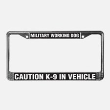 Military Working Dog License Plate Frame