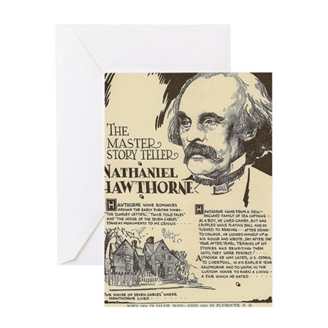 Nathaniel Hawthorne Mini Biography Greeting Cards