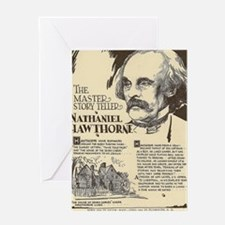 Nathaniel Hawthorne Mini Biography Greeting Cards