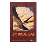"""Eight """"St. Paul 1841"""" seed art post cards"""