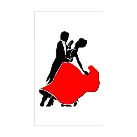 Shall We Dance Rectangle Sticker