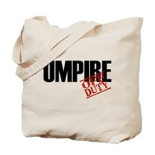 Off Duty Umpire Tote Bag