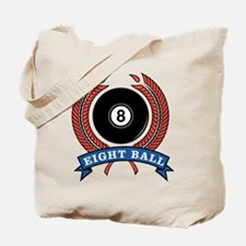 Eight Ball Red Emblem Tote Bag