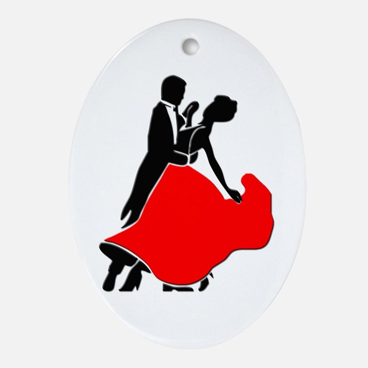 Shall We Dance Oval Ornament