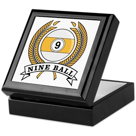 Nine Ball Yellow Emblem Keepsake Box