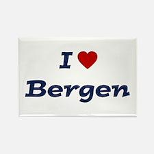 I HEART BERGEN Rectangle Magnet