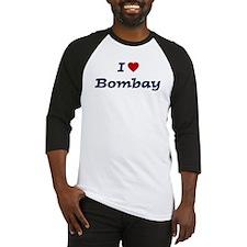 I HEART BOMBAY Baseball Jersey