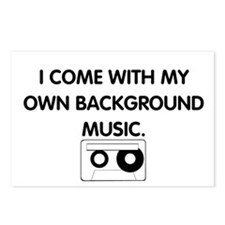 Background Music Postcards (Package of 8)