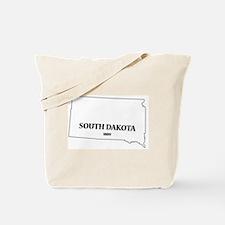 South Dakota State and Date Tote Bag