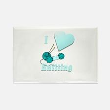 I Love Knitting Rectangle Magnet (100 pack)