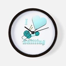 I Love Knitting Wall Clock
