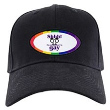 SHHH! NO ONE KNOWS I'M GAY Baseball Hat