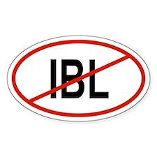 IBL Oval Decal