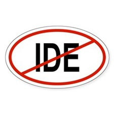 IDE Oval Decal
