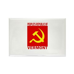 People's Republic of Vermont Rectangle Magnet (100