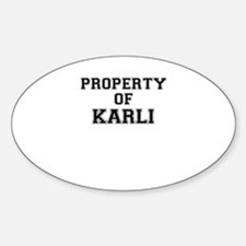 Property of KARLI Decal