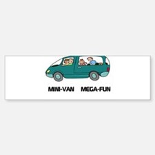 Mini-van Mega-fun Bumper Bumper Bumper Sticker