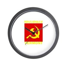 People's Republic of Vermont Wall Clock