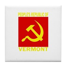 People's Republic of Vermont Tile Coaster