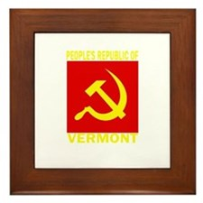 People's Republic of Vermont Framed Tile