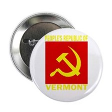 """People's Republic of Vermont 2.25"""" Button"""