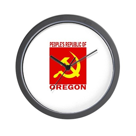Peoples Republic of Oregon Wall Clock